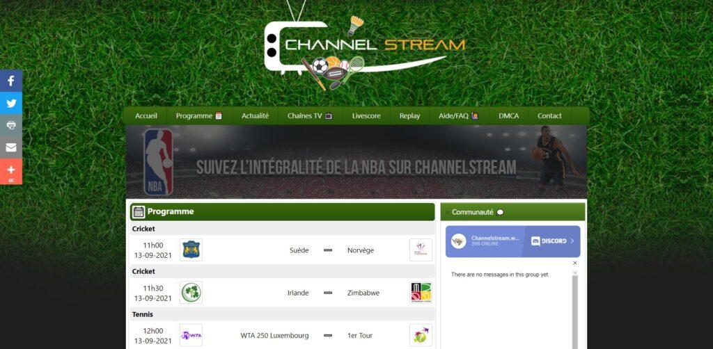 Channelstream - Les directs sportif en streaming