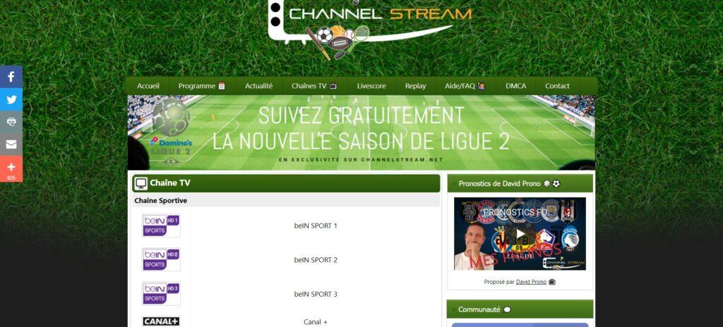 Channelstream - Regarder gratuitement les chaînes Sportives et live streaming