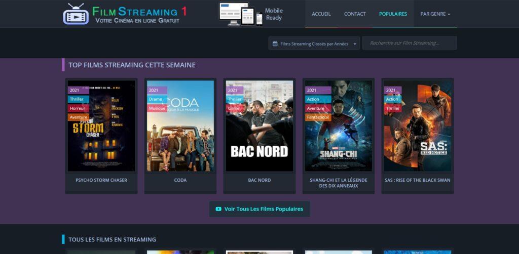 Filmstreaming1 - 1er site Film Streaming PRO 100% Gratuit HD VF, Film Complet en Streaming