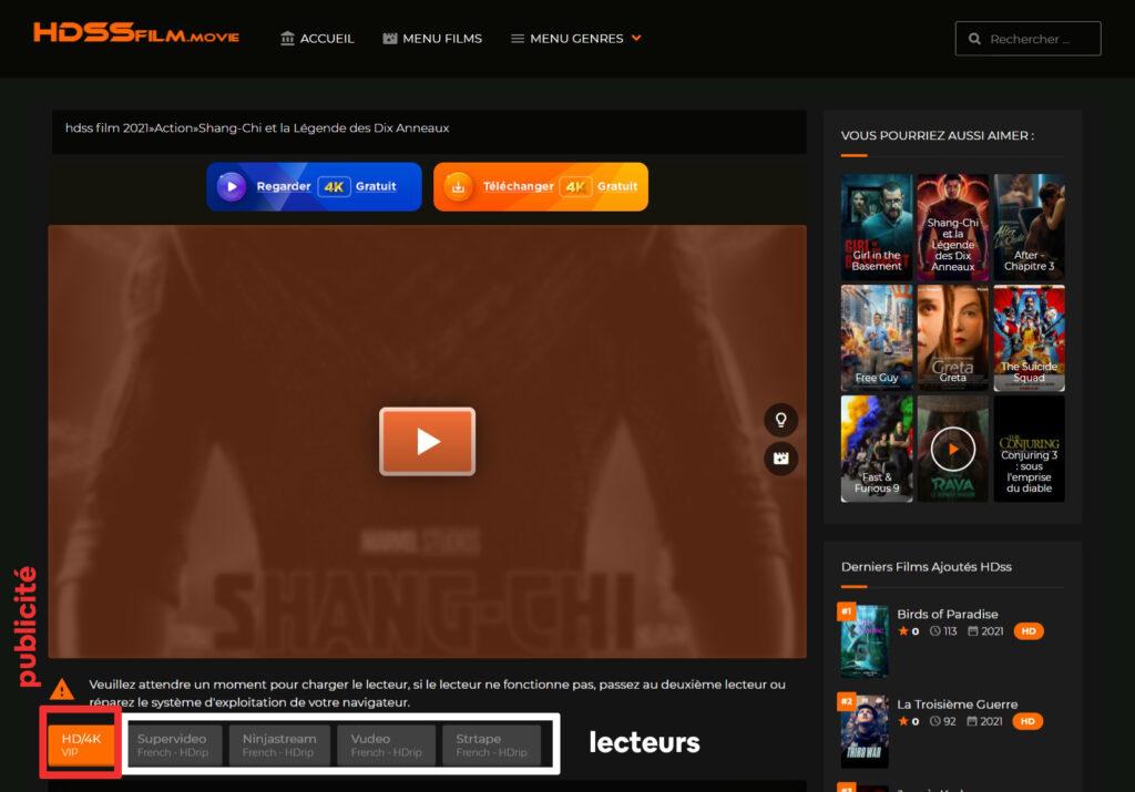 HDSS.to Film Streaming VF et Séries TV Gratuits - Etapes pour regarder un film sur HDSS Stream