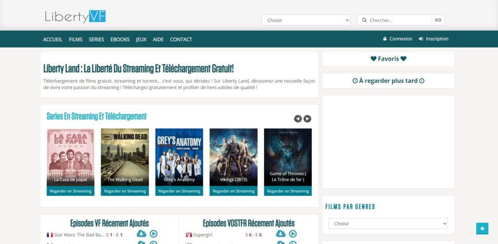 LibertyVF et LibertyLand - Téléchargement et streaming en illimité complet