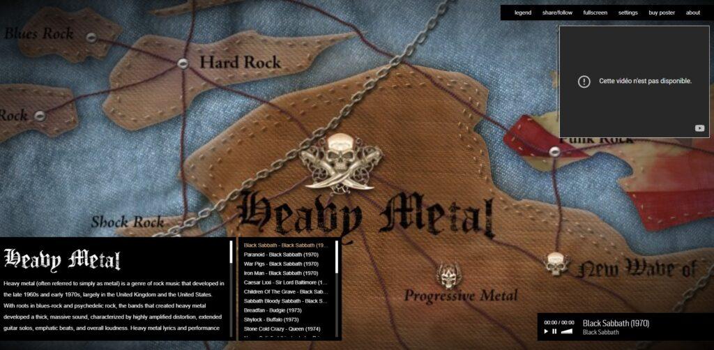 Map Of Metal - L'histoire du métal