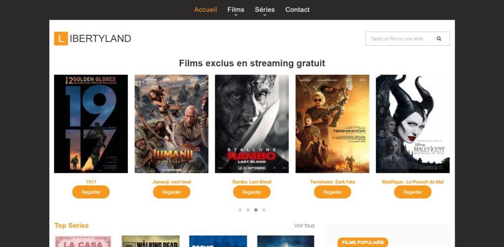 Nouvelle adresse LibertyVF et Libertyland - films streaming HD complet gratuit