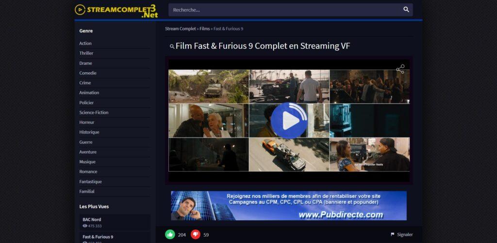 Nouvelle adresse StreamComplet - Film Complet en Streaming VF