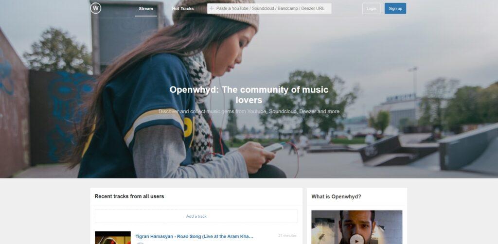 Openwhyd - Musique en ligne Gratuitement et partage de playlists