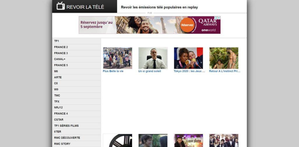 REVOIR LA TÉLÉ - Le programme TV des émissions populaires en replay - télévision de rattrapage