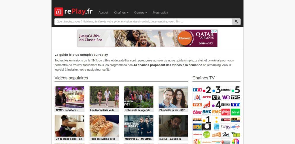RePlay - Guide des emissions TV à revoir en replay et TV en replay gratuitement