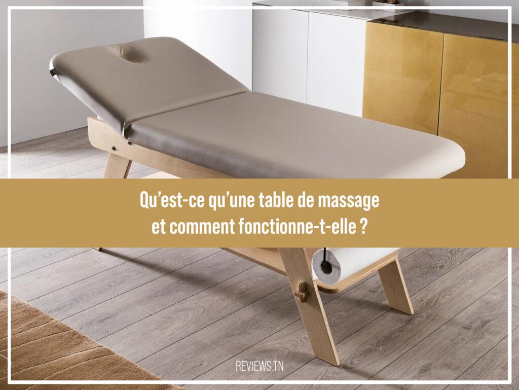 Qu'est-ce qu'unetable de massage - Définition et fonctionnement